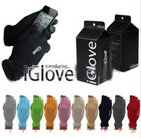 Wholesale 1pair Retail Box iGlove Touch Screen Gloves For Unisex Warm Winter for Iphone ipad For samsung Capacitive Smart Phones