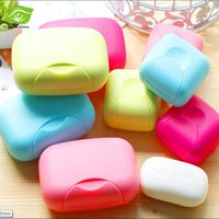 candy dish - 10pcs Mini Creative Handmade Portable Travel Soap Box Candy colored Leak Soapbox Locking Lid Soap Box Soap Dishes dandys