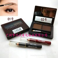 Wholesale 2015 HOT SALE NEW MENOW eys eyebrow enhancers eyebrow cake with eyeliner from MN MEINUO box set DHL