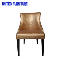 Wholesale DINING ROOM furniture The modern popular FABRIC chair Leisure dining chair Composition of LEATHER and METAL legs