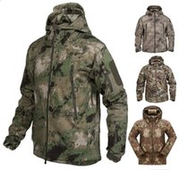 Wholesale High quality Soft Shell Outdoor Military Tactical Jacket Waterproof Windproof Sports Army Clothing camouflage