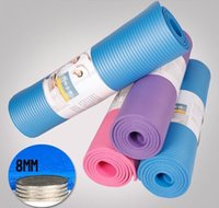 Wholesale 8mm Thick Exercise Fitness Thick Yoga Meditation Mat Pad Non Slip Exercise Fitness quot x24 quot x0 quot Color