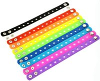 job lots - Hotsale Job Shoe Charms Silicone Wristbands Bracelets cm Mixed Colors Kids Gift