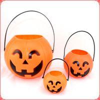big pumpkins - Big discount Halloween Pumpkin Lantern S M L sizes Pumpkin Bucket kids masquerade party costumes accessories EMS