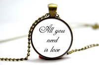 beatles gift - 10pcs The beatles All you need is love Necklace Glass Photo Cabochon Necklace