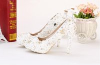 beautiful photographs - Beautiful flowers white lace bridal wedding shoes diamond wedding photographs fashion high heels waterproof women shoes