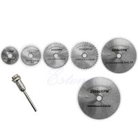 Wholesale HSS Rotary Circular Saw Blades Tool Cutting Discs Mandrel For Dremel Cutoff