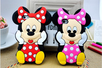 3d iphone 4 case - 3D Mickey Minnie Mouse Soft Silicone Rubber Case Cover For iphone S S C iphone Plus Ipod touch samsung S3 S4 S5 case