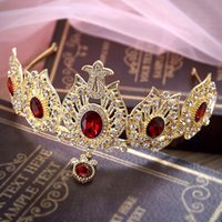 antique tiaras - Princess Queen Wedding Tiaras Hairbands Crystal Rhinestones Hair Jewelry Queen Bridal Crowns Tiaras W6430