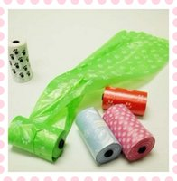 Wholesale Pet Dog Garbage Clean up Bag Cat Puppy Pick Up Waste Poop Pet Supplies Bags roll
