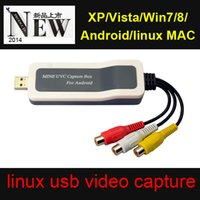 Wholesale Factory price easycap usb video capture box UVC2901 New design no need for driver android wireless video capture card