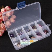 Wholesale Jewelry Organizer Storage Beads Box Plastic Jewelries Boxes Adjustable Tool Bins Jewelry Packaging Box