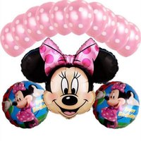 balloon wedding theme - Minnie Mouse theme party decoration Combination suit balloons Wedding birthday party decoration foil balloon Hot sale