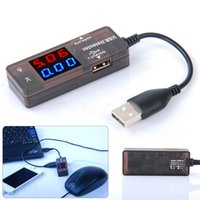 Wholesale KW Red Blue Double color LED Dual Display KW203 Universal Type USB Power Charge Current and Voltage tester Ampere Panel Meter