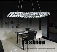 Wholesale Led Crystal Chandelier Light Fixture Rectangle Chandelier With Beautiful K9 Crystal Guaranteed