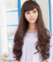 Wholesale Fashion New Style Briding Hair for Wedding Colors Clip in Hair Extensions Inclined Bang Curly Hair Wigs