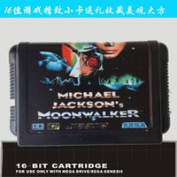 Wholesale newest edition bit sega game cartridge classic game card micheal jackson moon walker