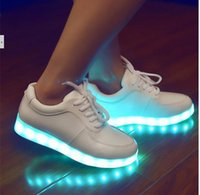 Wholesale 2016 new Women Colorful glowing shoes with lights up led luminous shoes a new simulation sole led shoes for adults neon basket led