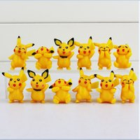 anime mini figure set - Poke Pikachu Version Mini Figure Toys PVC Doll Collective Toys Best Gifts For Kids set cm