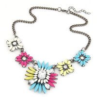 baroque gemstone necklace - New Brand Baroque Imitation Gemstone Jewelry Bib Statment Necklaces Pendants Vintage Chain Crystal Collars Women men jewelry