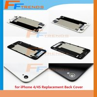 Wholesale for iPhone S Back Cover Replacement Repair Parts Glass Battery Housing Door Rear Cover with Flas Diffuser Black White