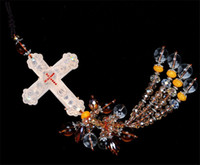automotive glass supplies - Automotive supplies Christian cross pendant Lord Jesus give peace crystal glass Jushi car hanging pendant