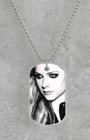 Wholesale Avril Lavigne Smoky Eyes custom Pet Dog Tag pendant necklace Chain Metal Tags