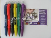 abs club - Hot Sale Custom Logo Text Message Print Advertise Banner Pen Solid ABS Plastic Color Ballpoint Gift Pen For Travel Hotel Club