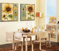art gallery hanging - Sunflowers Gallery Wrapped Quality Canvas Ready To Hang Oil Painting Canvas Art Modern Picture Huge Picture Painting Bed