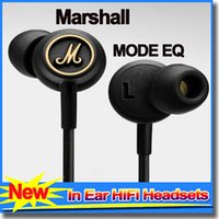 Cheap Earphones With Mic Marshall MODE EQ In Ear Headset Major Black HiFi EarBuds Headphones Universal For Mobile Phones