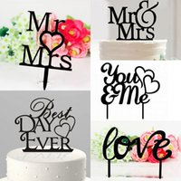 Wholesale Romantic Acrylic Wedding Cake Topper quot Mr Mrs quot Love Plastic Cheap Cake Toppers Wedding Cake Decoration New Design LH08