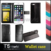 Wholesale Card Cash Wallet - iphone 7 pu leather wallet case kickstand card pocket cash slot photo frame For galaxy s7 edge iphone 6s plus cell phone case