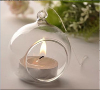 air cylinder mounts - 6pcs inch Glass Tealight Holders Hanging Candle Holders wedding candlestick flat bottom glass terrarium with air plants moss succulent