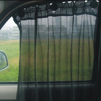 Wholesale 2015 new arrival One Pair Black Car Sun Shade Curtain UV Protection Side Window Curtain