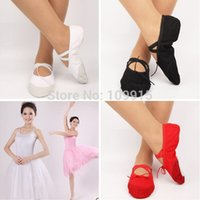 Wholesale New Kid s Girl s Fitness Soft Gymnastics Canvas Ballet Dance Shoes CMFree Drop Shipping