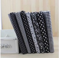 Wholesale Hot cm Black Series Cotton Fabric Fat Quarter Bundle Telas Patchwork Tilda Diy Quilting Baby Toy Sewing Bedding Tecido