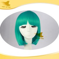 green synthetic - Hot Green Synthetic Hair g pc Cosplay Short Hair Wigs Synthetic BOBO Hair Wigs for Black Women Toupees Synthetic Lace Hair
