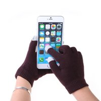 Wholesale Unisex Touch Gloves Women Men Capacitive Gloves Touch Screen Warmer Gloves for Iphone Ipad Full Finger Winter Gloves Soft Cotton Colors