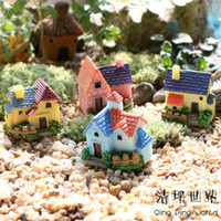 Wholesale 8pcs New High Quality Villa Resin Ornaments Micro landscape Ornaments Crea tive Home Gardening Decorations