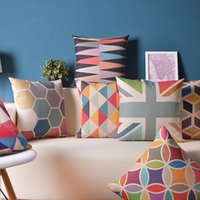 bamboo couch - NEW Cushion Cover quot Linen Cotton Colorful selfhood Geometric Pillow Cover Couch Pillows case Modern Decorative Pillowcase