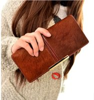 Wholesale The new special offer points in the horse hair leather hand maomao Japan and South Korea style ladies handbags leather bag mail long purse