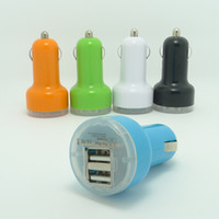 Wholesale Dual USB Car Charger Cigarette A Auto Power Adapter for iphone s plus ipad Samsung s6 s5 s4