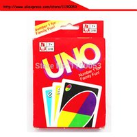 Wholesale 450g copper board UNO card with a and plastic UNO card with via Fedex total
