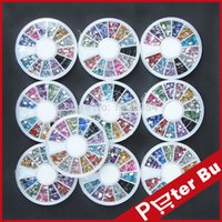 acrylic nail wheel - wheels Crystal Rhinestone in Different Shapes Decoration For acrylic uv gel Nails Nail Art tools Decorations