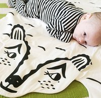 baby blankets sale - 2016 New INS Hot sales Brand Baby Play Mat Cotton White Cute Bear Blanket For Bedding X26 bolsa T1134