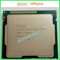 Wholesale G2100T G2010 G2020 Intel Original desktops cpu Intel Pentium Dual Core G2010 Ghz M nm LGA Dual CORE