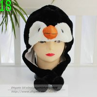 Wholesale 120pcs Cartoon plush hat animal hat tiger hat cartoon designs wolf hat frog hat winter hat colors Can choose