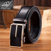 Wholesale Automatic buckle genuine leather belts for men high quality mens brand waist belts jeans strap