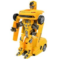 Wholesale Best Gift Cartoon Brinquedos Bumblebee Optimus Prime Transformation Robots Car Juguetes Action Figures Automatic Remote Control Toy for Kids