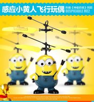 aircraft helicopters - Despicable Me Minion Helikopter Remote Control Toys Mini RC Helicopter Aircraft Model Toy Children Kids Boy Christmas Toys